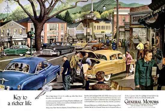 General Motors Key To Richer Life Wide | Vintage Cars 1891-1970