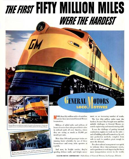 General Motors Locomotives | Vintage Ad and Cover Art 1891-1970
