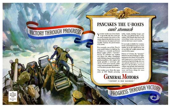 General Motors Pancakes The U-Boats | Vintage War Propaganda Posters 1891-1970