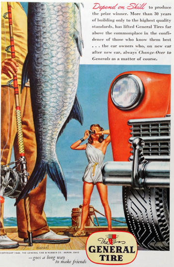 General Tire Depend On Skill Price Winner 1940s | Sex Appeal Vintage Ads and Covers 1891-1970