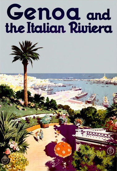 Genoa And The Italian Riviera | Vintage Travel Posters 1891-1970