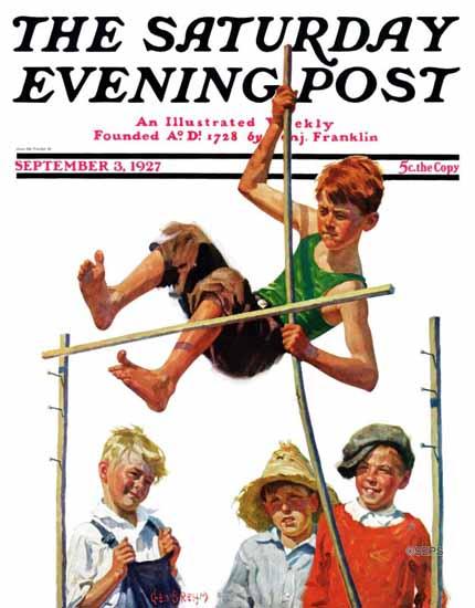 George Brehm Cover Artist Saturday Evening Post 1927_09_03 | The Saturday Evening Post Graphic Art Covers 1892-1930