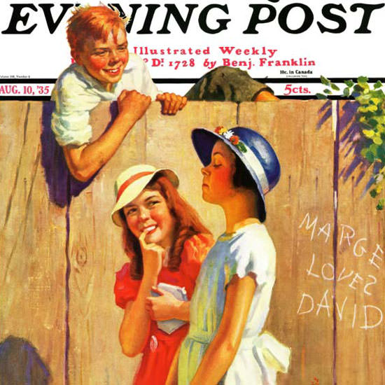 George Brehm Saturday Evening Post Marge 1935_08_10 Copyright crop | Best of 1930s Ad and Cover Art