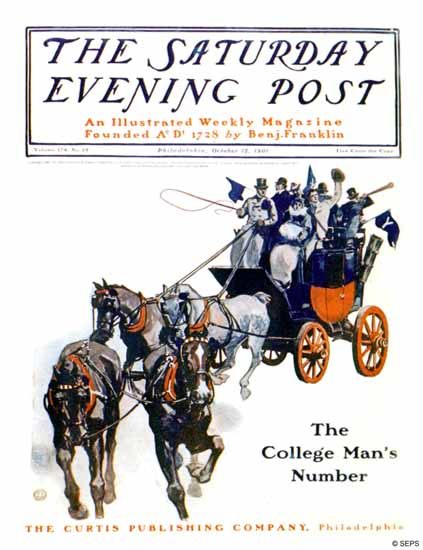 George Gibbs Saturday Evening Post 1901_10_12 | The Saturday Evening Post Graphic Art Covers 1892-1930