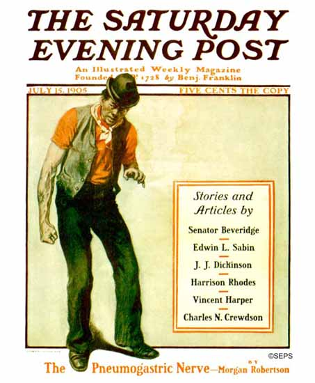 George Gibbs Saturday Evening Post 1905_07_15 | The Saturday Evening Post Graphic Art Covers 1892-1930