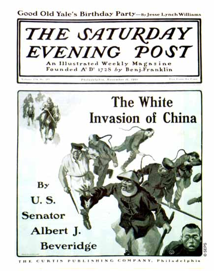George Gibbs Saturday Evening Post White Invasion of China 1901_11_16 | The Saturday Evening Post Graphic Art Covers 1892-1930