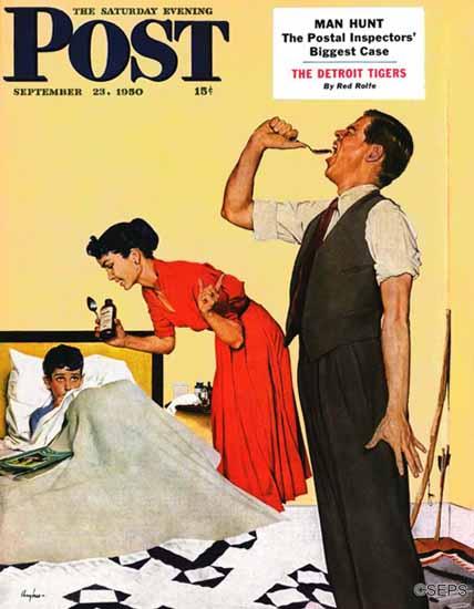 George Hughes Cover Artist Saturday Evening Post 1950_09_23 | The Saturday Evening Post Graphic Art Covers 1931-1969