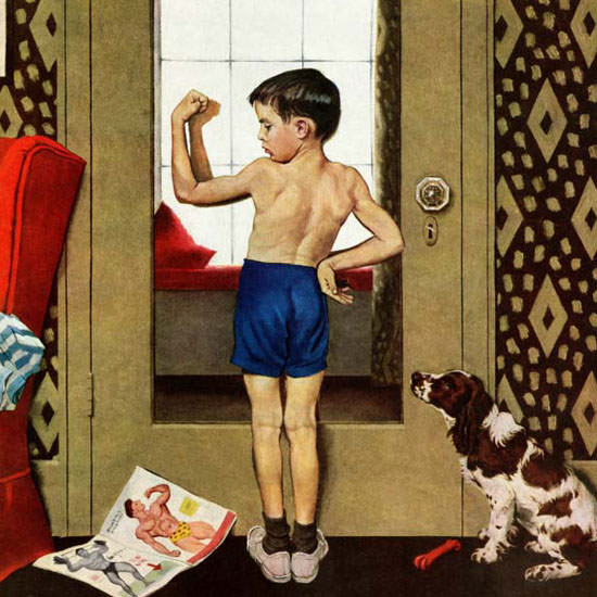 George Hughes Saturday Evening Post Atlas 1952_11_29 Copyright crop | Best of Vintage Cover Art 1900-1970