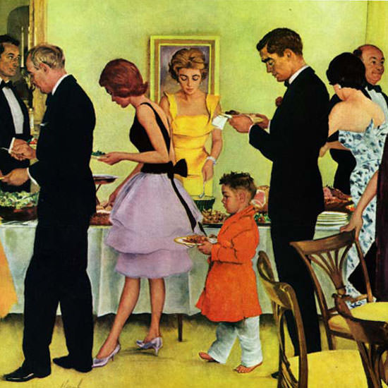 George Hughes Saturday Evening Post Buffet 1961_11_11 Copyright crop | Best of Vintage Cover Art 1900-1970