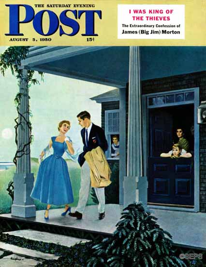 George Hughes Saturday Evening Post Date for the Dance 1950_08_05   The Saturday Evening Post Graphic Art Covers 1931-1969