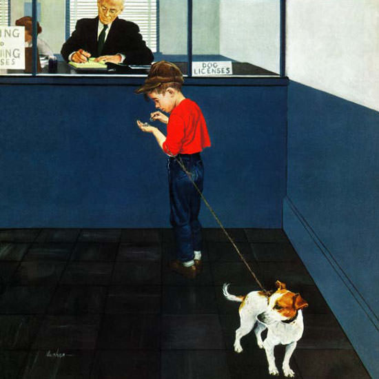 George Hughes Saturday Evening Post Dog 1952_06_21 Copyright crop | Best of Vintage Cover Art 1900-1970