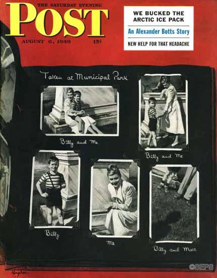 George Hughes Saturday Evening Post Family Photo Album 1949_08_06 | The Saturday Evening Post Graphic Art Covers 1931-1969