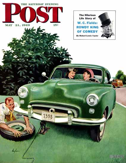 George Hughes Saturday Evening Post Flat and Chat 1949_05_21 | The Saturday Evening Post Graphic Art Covers 1931-1969