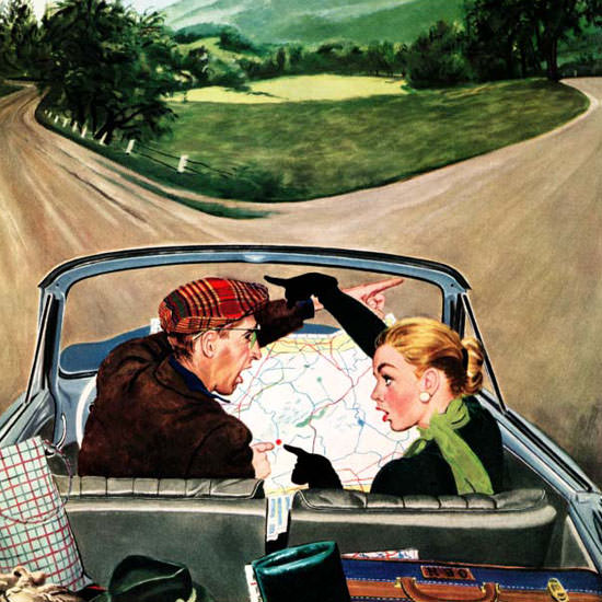 George Hughes Saturday Evening Post Fork 1956_07_07 Copyright crop   Best of Vintage Cover Art 1900-1970