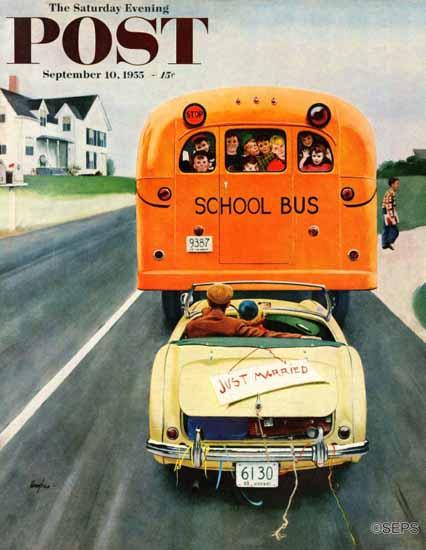 George Hughes Saturday Evening Post Just Married 1955_09_10   The Saturday Evening Post Graphic Art Covers 1931-1969