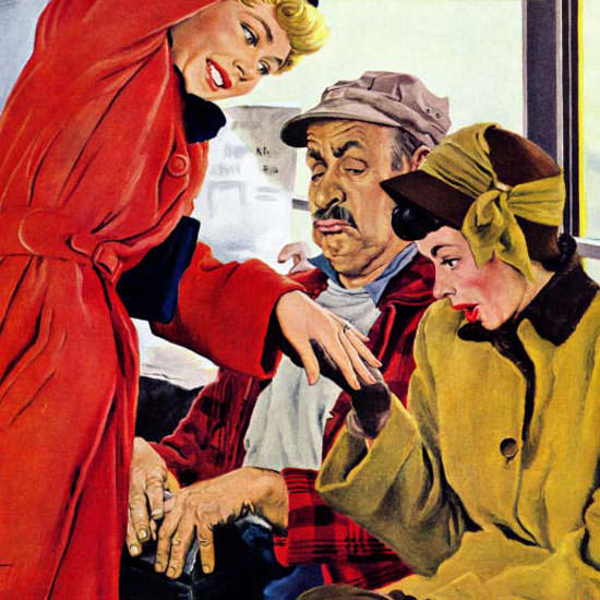 George Hughes Saturday Evening Post Ring 1949_01_22 Copyright crop | Best of Vintage Cover Art 1900-1970