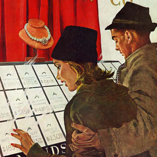 George Hughes Saturday Evening Post Ring 1961_02_11 Copyright crop | Best of Vintage Cover Art 1900-1970