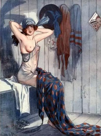 George Pavis La Vie Parisienne 1919 Une Debutante page   La Vie Parisienne Erotic Magazine Covers 1910-1939
