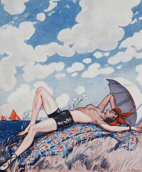 George Pavis La Vie Parisienne 1926 Heliotherapie page | La Vie Parisienne Erotic Magazine Covers 1910-1939