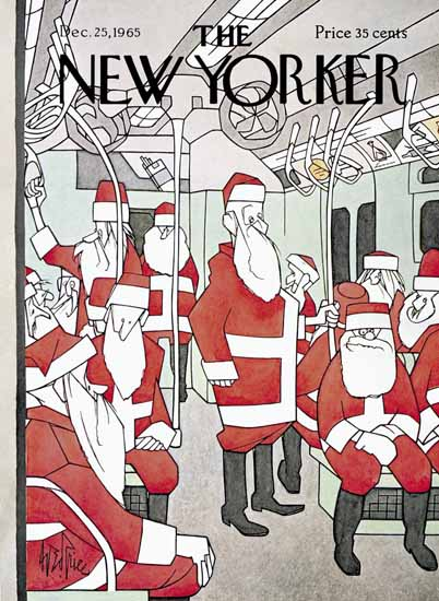 George Price The New Yorker 1965_12_25 Copyright   The New Yorker Graphic Art Covers 1946-1970