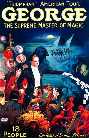 George The Spreme Master Of Magic | Vintage Ad and Cover Art 1891-1970