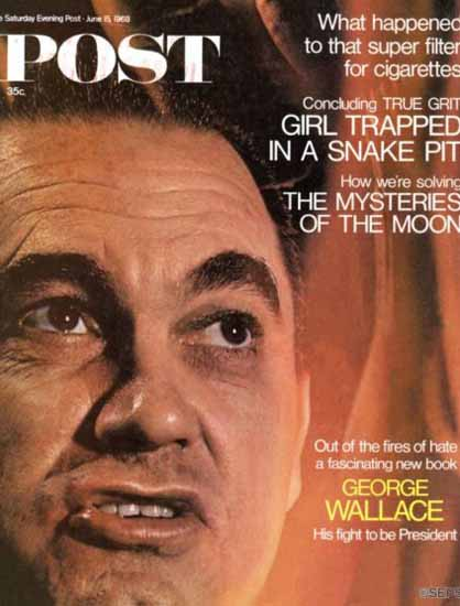 George Wallace Saturday Evening Post 1968_06_15   Vintage Ad and Cover Art 1891-1970