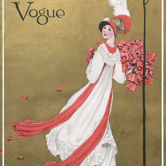 George Wolfe Plank Vogue Cover 1911-08-01 Copyright crop | Best of Vintage Cover Art 1900-1970