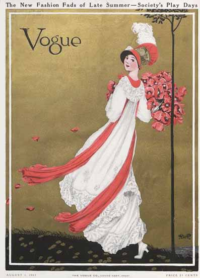 George Wolfe Plank Vogue Cover 1911-08-01 Copyright | Vogue Magazine Graphic Art Covers 1902-1958