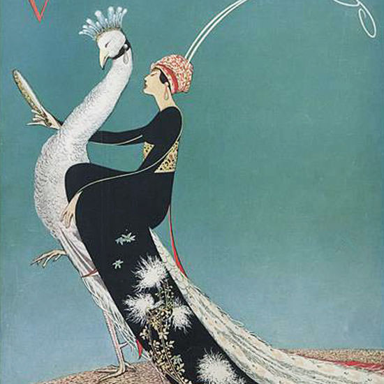 George Wolfe Plank Vogue Cover 1911-11-15 Copyright crop | Best of Vintage Cover Art 1900-1970
