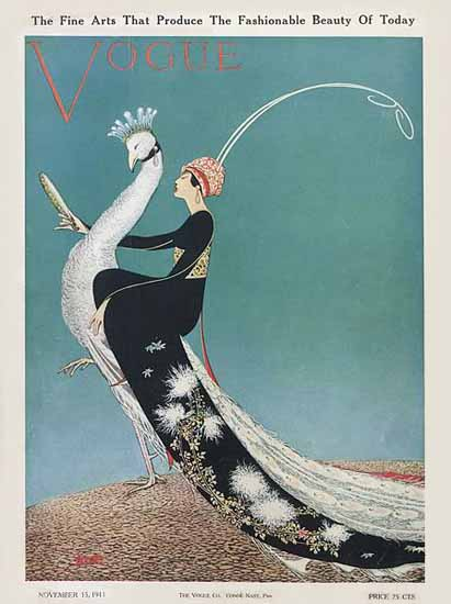 George Wolfe Plank Vogue Cover 1911-11-15 Copyright | Vogue Magazine Graphic Art Covers 1902-1958