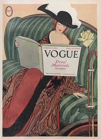 George Wolfe Plank Vogue Cover 1912-03-15 Copyright Sex Appeal | Sex Appeal Vintage Ads and Covers 1891-1970
