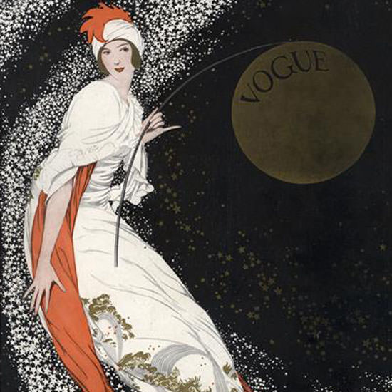 George Wolfe Plank Vogue Cover 1912-08-01 Copyright crop | Best of Vintage Cover Art 1900-1970