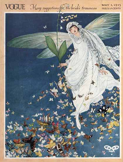 George Wolfe Plank Vogue Cover 1913-05-01 Copyright | Vogue Magazine Graphic Art Covers 1902-1958