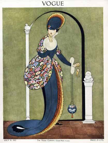 George Wolfe Plank Vogue Cover 1913-07-15 Copyright   Vogue Magazine Graphic Art Covers 1902-1958