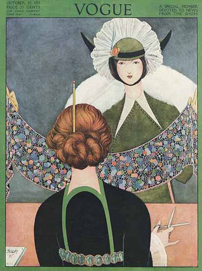 George Wolfe Plank Vogue Cover 1913-10-15 Copyright | Vogue Magazine Graphic Art Covers 1902-1958