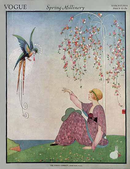 George Wolfe Plank Vogue Cover 1914-03-15 Copyright | Vogue Magazine Graphic Art Covers 1902-1958