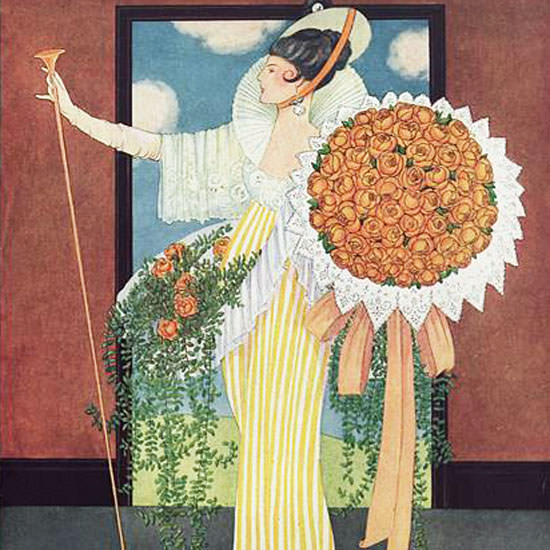 George Wolfe Plank Vogue Cover 1914-05-15 Copyright crop | Best of Vintage Cover Art 1900-1970