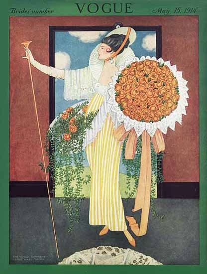 George Wolfe Plank Vogue Cover 1914-05-15 Copyright   Vogue Magazine Graphic Art Covers 1902-1958