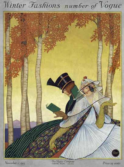 George Wolfe Plank Vogue Cover 1915-11-01 Copyright | Vogue Magazine Graphic Art Covers 1902-1958