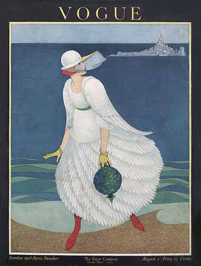 George Wolfe Plank Vogue Cover 1916-08-01 Copyright | Vogue Magazine Graphic Art Covers 1902-1958