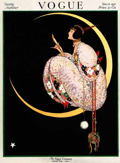 George Wolfe Plank Vogue Cover 1917-11-15 Copyright | Vogue Magazine Graphic Art Covers 1902-1958