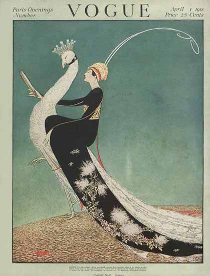 George Wolfe Plank Vogue Cover 1918-04-01 Copyright | Vogue Magazine Graphic Art Covers 1902-1958