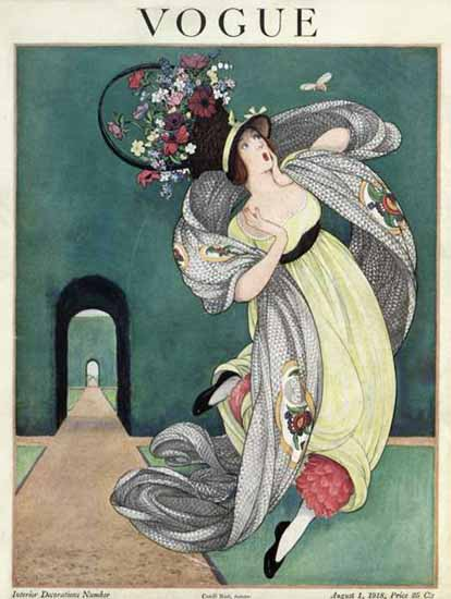 George Wolfe Plank Vogue Cover 1918-08-01 Copyright | Vogue Magazine Graphic Art Covers 1902-1958