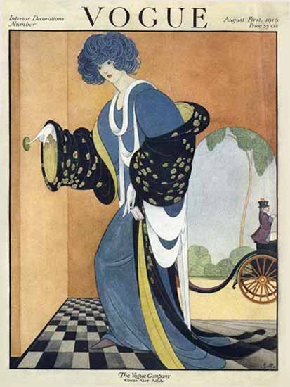 George Wolfe Plank Vogue Cover 1919-08-01 Copyright | Vogue Magazine Graphic Art Covers 1902-1958