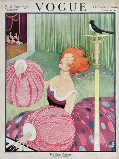 George Wolfe Plank Vogue Cover 1919-10-15 Copyright | Vogue Magazine Graphic Art Covers 1902-1958