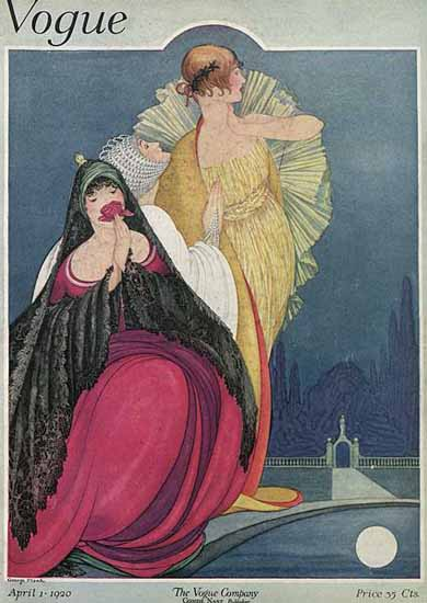 George Wolfe Plank Vogue Cover 1920-04-01 Copyright   Vogue Magazine Graphic Art Covers 1902-1958