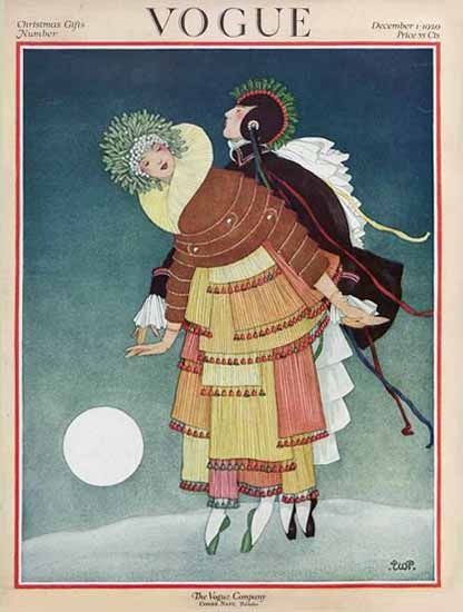 George Wolfe Plank Vogue Cover 1920-12-01 Copyright | Vogue Magazine Graphic Art Covers 1902-1958