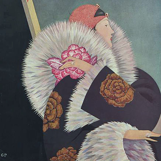 George Wolfe Plank Vogue Cover 1927-01-01 Copyright crop | Best of 1920s Ad and Cover Art