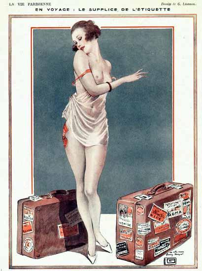 Georges Leonnec La Vie Parisienne 1920s En Voyage page Sex Appeal | Sex Appeal Vintage Ads and Covers 1891-1970