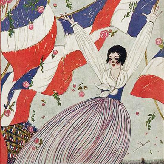 Georges Lepape Vogue Cover 1917-11-01 Copyright crop | Best of Vintage Cover Art 1900-1970